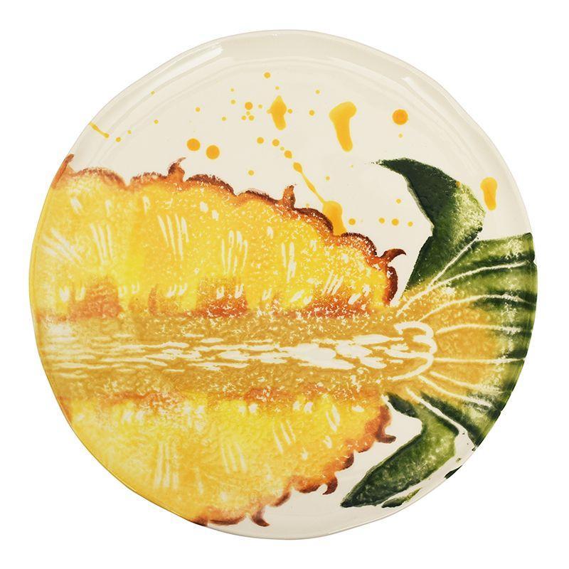 """Круглая десертная тарелка из керамики """"Фруктовый коктейль"""""""