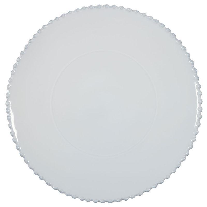 Тарелка для нарезки белая Pearl