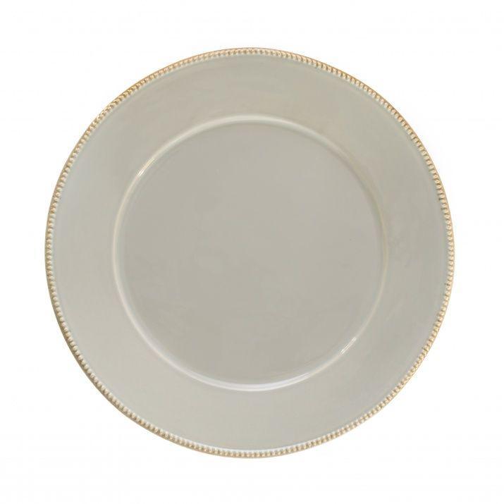 Тарелка подставная Costa Nova Luzia светло-серая 34 см