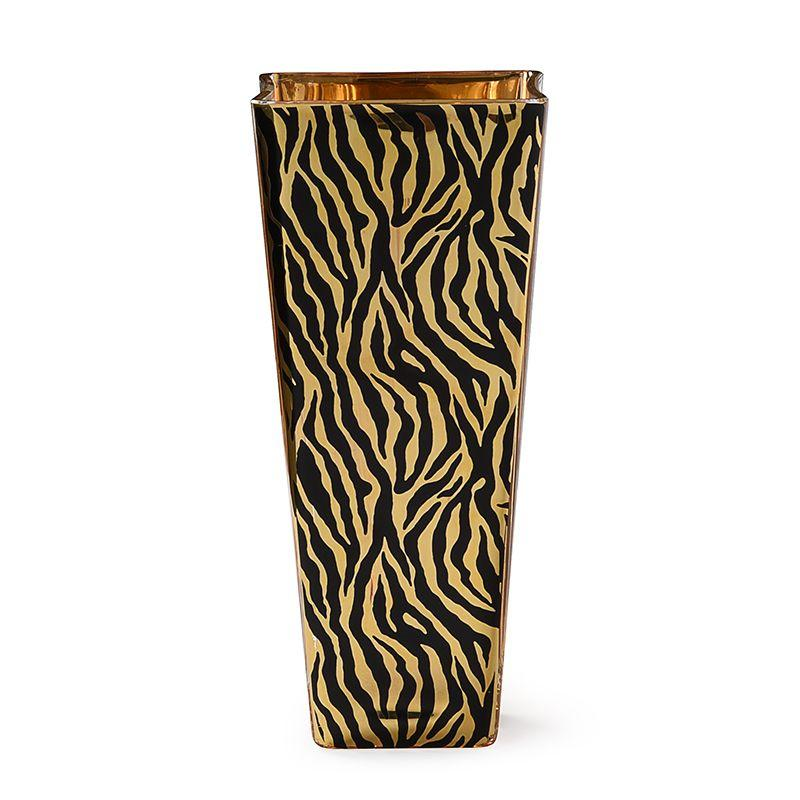 Оригинальная стеклянная ваза с принтом зебры Cre Art