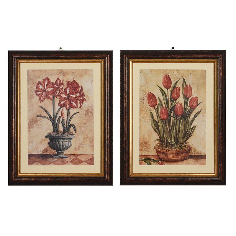 """Набор из 2-х репродукций картин Тины Чаден """"Цветы в горшках"""""""
