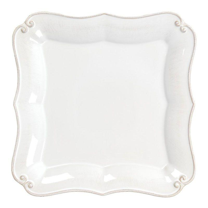 Белая обеденная тарелка Barroco