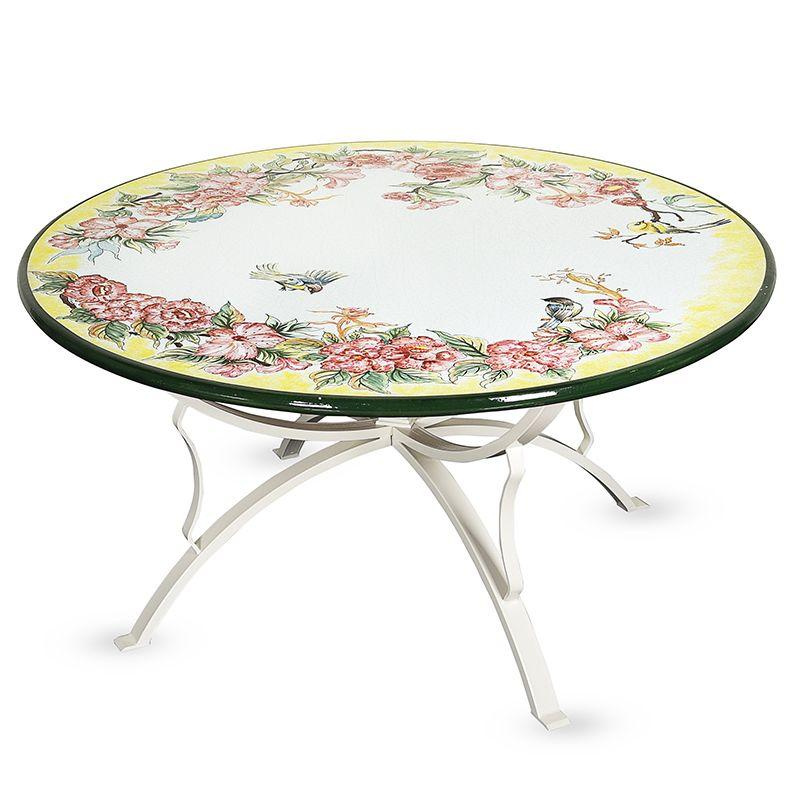 Стол из натурального камня с ручной росписью Spring