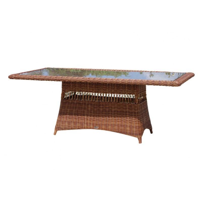 Большой прямоугольный стол из искусственного ротанга Ebony