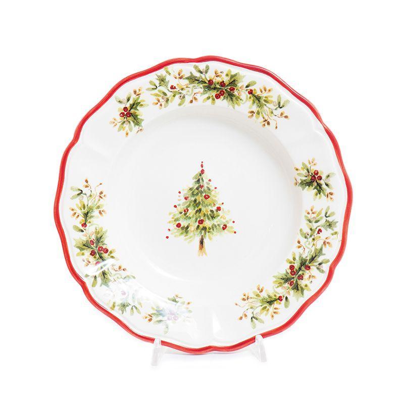 """Тарелка для супа """"Новогодняя красавица"""" Villa Grazia"""