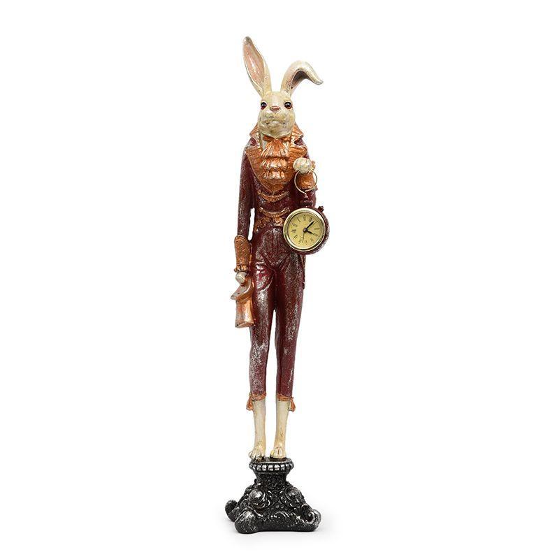"""Статуэтка высокая с кварцевыми часами """"Кролик"""""""