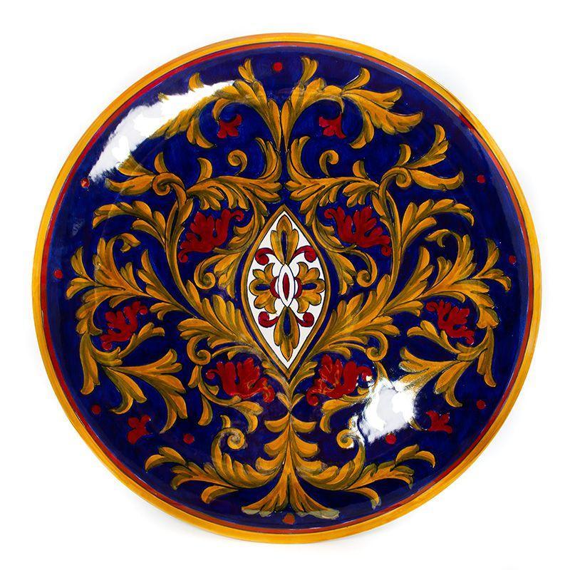 Тарелка настенная с ручной росписью Lustro Antico