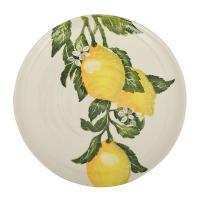 """Блюдо керамическое с ярким рисунком """"Солнечный лимон"""""""