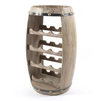 Подставка деревянная в виде бочки для 14-ти бутылок