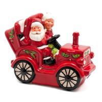 Статуэтка Дед Мороз с бабкой в кабриолете