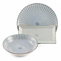 Набор из трех керамических блюд со светлым нежным дизайном