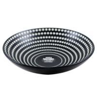 Черная суповая тарелка с футуристичным узором Galaxy