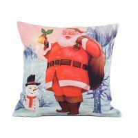 """Наволочка с новогодним рисунком """"Санта и снеговик"""" XMas"""
