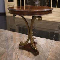 Круглый столик с инкрустированной столешницей и резными ножками Jonathan Charles