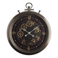 Часы шоколадного цвета с открытым механизмом
