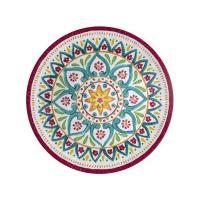 Тарелка обеденная из меламина с цветным узором Maya