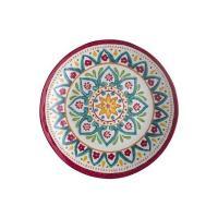 Тарелка суповая с ярким цветочным орнаментом Maya