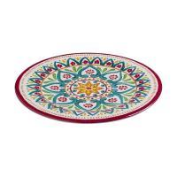 Блюдо круглое с цветочным орнаментом Maya