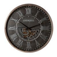 Большие металлические настенные часы в винтажном стиле