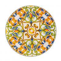 Блюдо круглое яркое из огнеупорной керамики Medicea