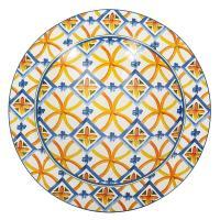 Глубокое блюдо из прочной керамики с орнаментом Medicea