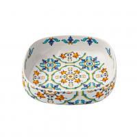 Квадратное керамическое блюдо с высокими бортиками Medicea