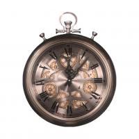 Часы настенные металлические с открытым механизмом