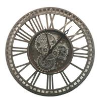 Часы большие металлические в стиле лофт