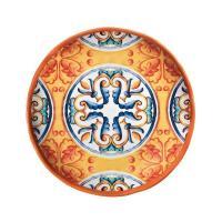 Тарелка десертная оранжевая с синим узором Medicea