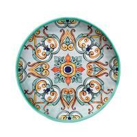 Тарелка обеденная бирюзовая с ярким орнаментом Medicea
