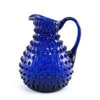 Стеклянный кувшин синего цвета Riccio Maison