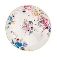 Блюдо круглое глубокое с цветами в стиле акварели Paradise