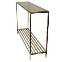 Столик стекло/сталь