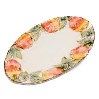 Блюдо овальное Персики