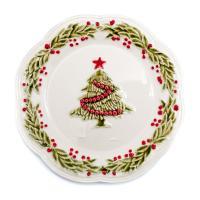 """Десертная тарелка с ёлочкой """"Рождество"""""""