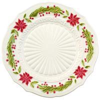 """Тарелка подставная белая с новогодним рисунком """"Рождество"""""""