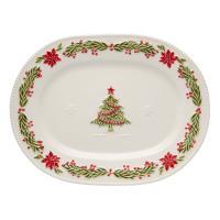 """Блюдо овальное """"Рождество"""""""