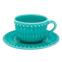 """Чайные чашки с блюдцами, набор 6 шт """"Фантазия"""""""