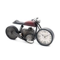 Современные настольные часы в виде мотоцикла Red Bike Loft Clocks & Co