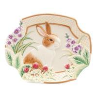 Тарелка десертная с кроликом