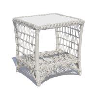 Столик приставной из техноротанга Arena White Wash