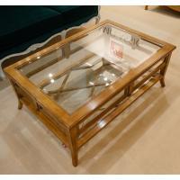 Журнальный столик из массива благородной древесины со вставками из стекла AM Classic