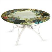 Стол из натурального камня с ручной росписью Amazzonia