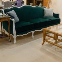 Трехместный диван в стиле рококо с основой из натурального дерева Viena AM Classic