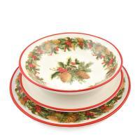 """Комплект тарелок """"Зимний букет"""""""