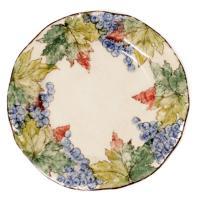 Столовая тарелка с красочной ручной росписью «Виноград» 30 см