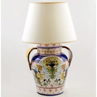 Лампа настольная керамическая ручной росписи