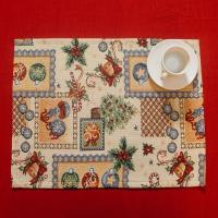 """Новогодняя салфетка """"Семейный праздник"""" Villa Grazia"""