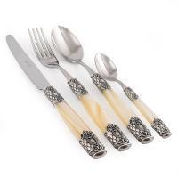 Набор столовых приборов с перламутровыми ручками Queen