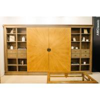 Библиотека с секцией под телевизор и зеркальными дверями-трансформерами Baviera